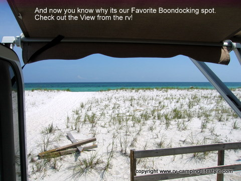 boondocking, rv, pensacola beach, camping, florida