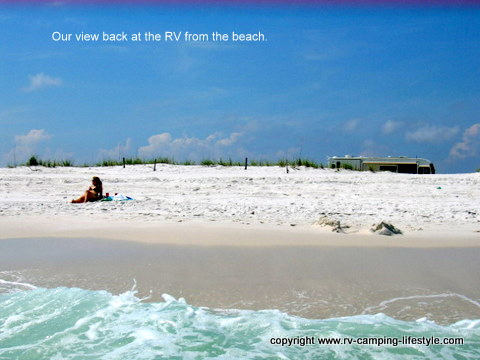 pensacola beach, rv, boondocking, camping