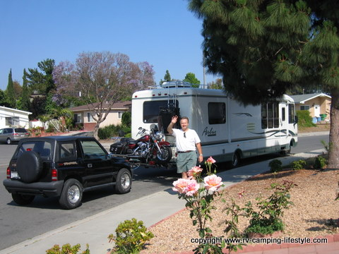 rv motorcycle carrier, rv motorcycle lift, motorcycle carriers