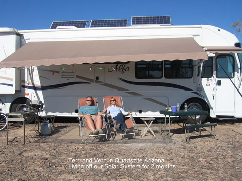 power needs when not hooked up to rv park power